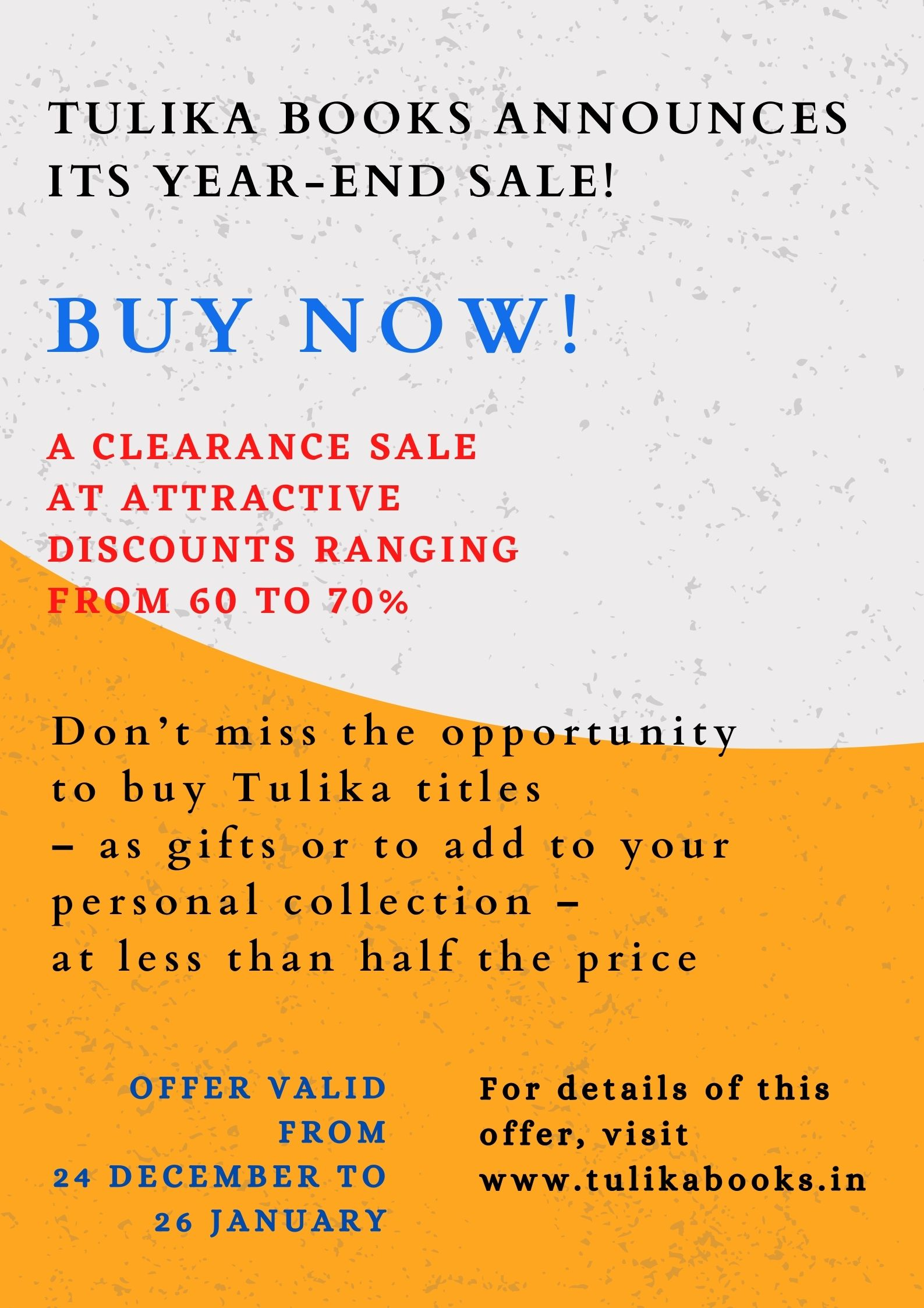 Tulika Books announces its year-end sale!